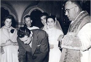 Portogruaro, Chiesa di S. Luigi. Matrimonio celebrato